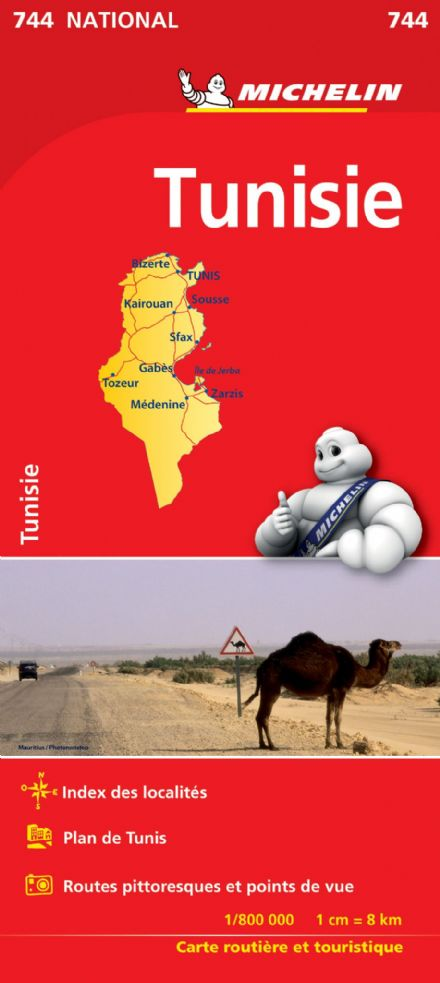 Tunisia - Michelin National Map 744